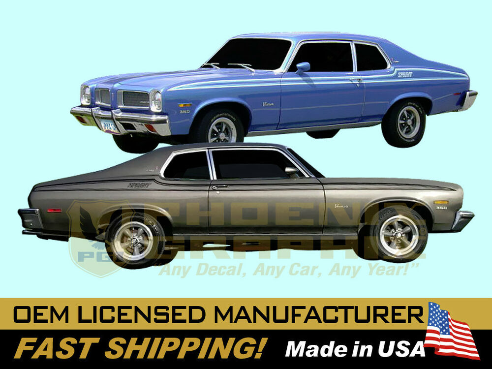 1973 1974 Pontiac Ventura Sprint Decals Stripes Kit Ebay