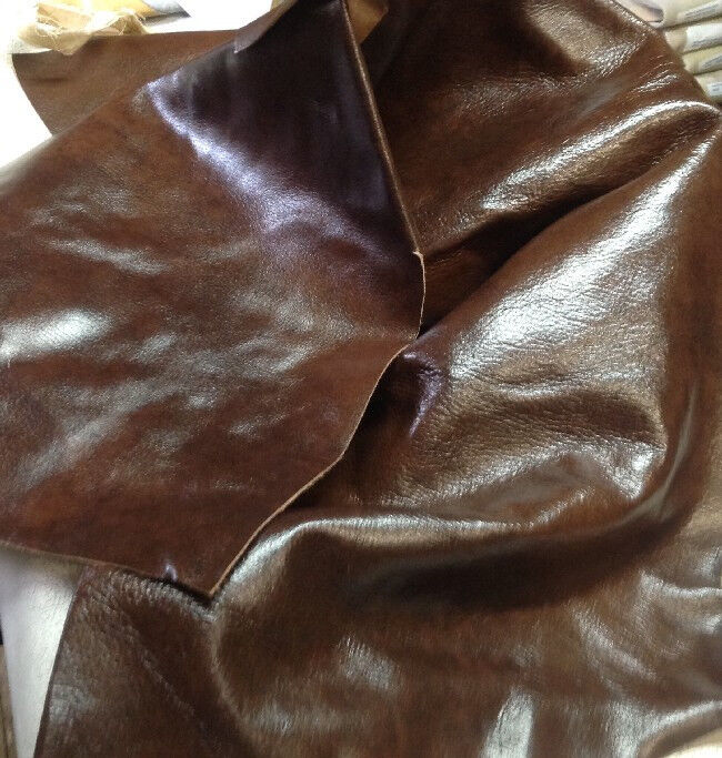 Spl09 leather cow hide cowhide upholstery craft fabric oak for Leather sheets for crafting