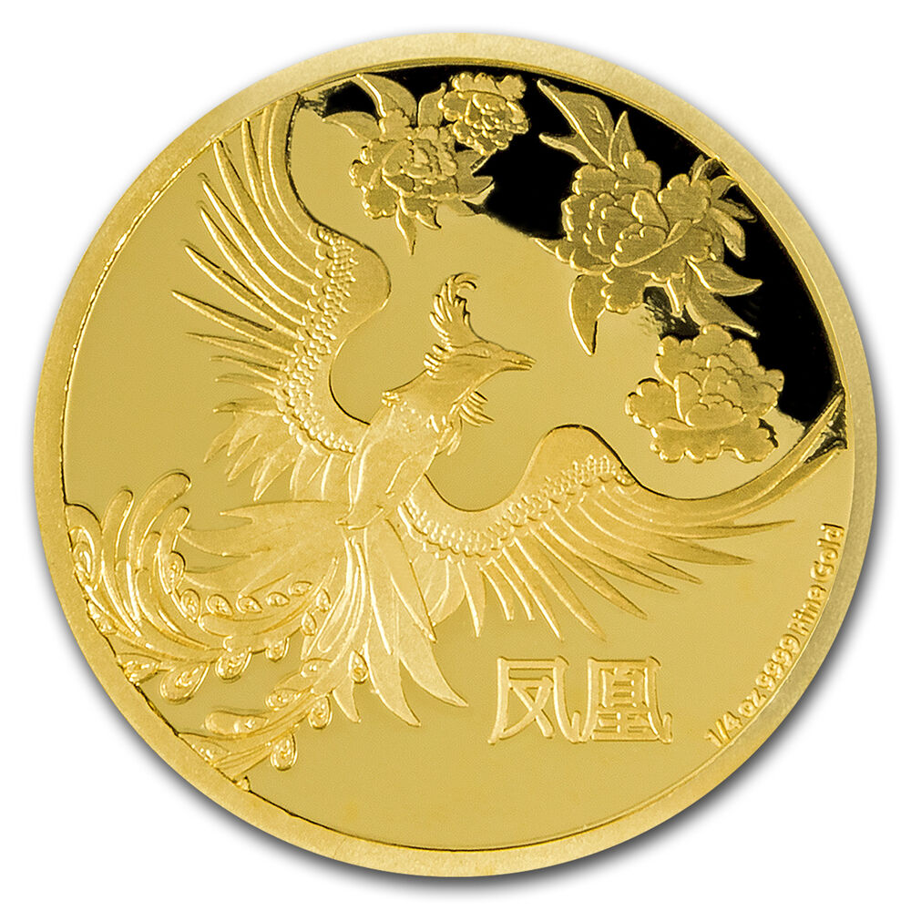 2016 niue 1 4 oz proof gold 25 feng shui phoenix sku 95189 ebay. Black Bedroom Furniture Sets. Home Design Ideas