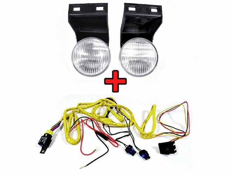 details about depo 94-98 dodge ram pickup truck replacement fog light + wiring  harness set