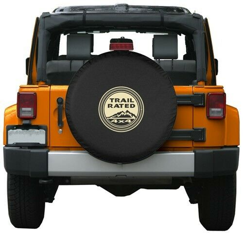 """35"""" Jeep Tire Cover - Trail Rated - Oversize Spare Tire"""