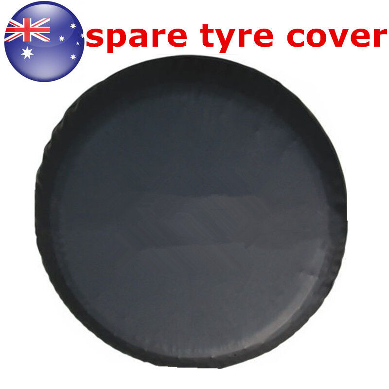 au 17 black spare tire cover wheel tyre covers for all diameter 80 83cm ebay. Black Bedroom Furniture Sets. Home Design Ideas