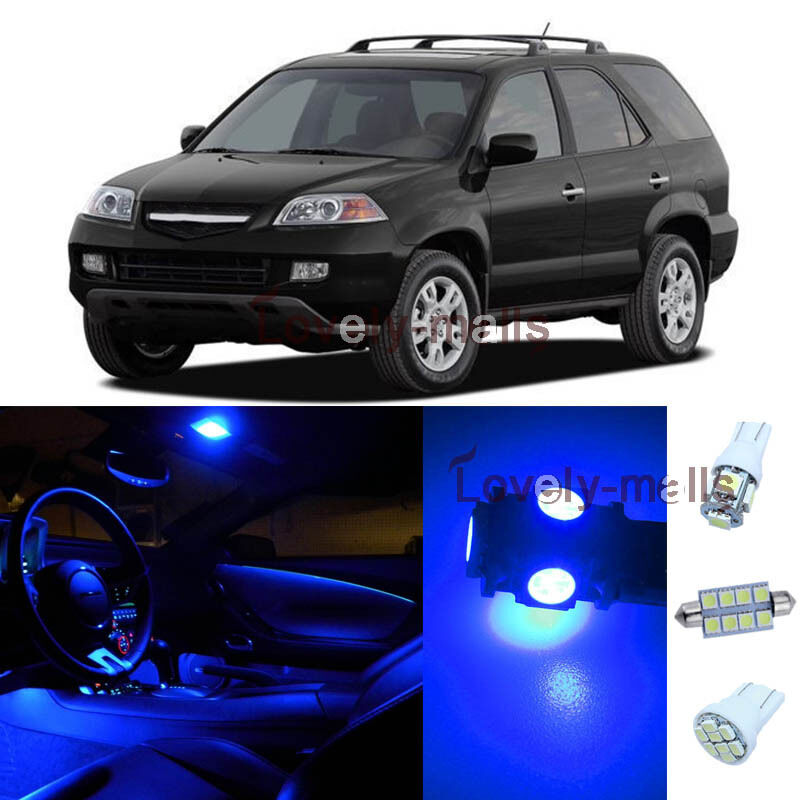 13Pcs Blue Map/Dome Lights Interior LED Package Kit For