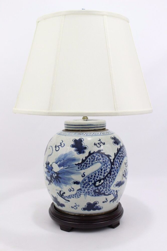 beautiful blue and white porcelain flat top ginger jar. Black Bedroom Furniture Sets. Home Design Ideas