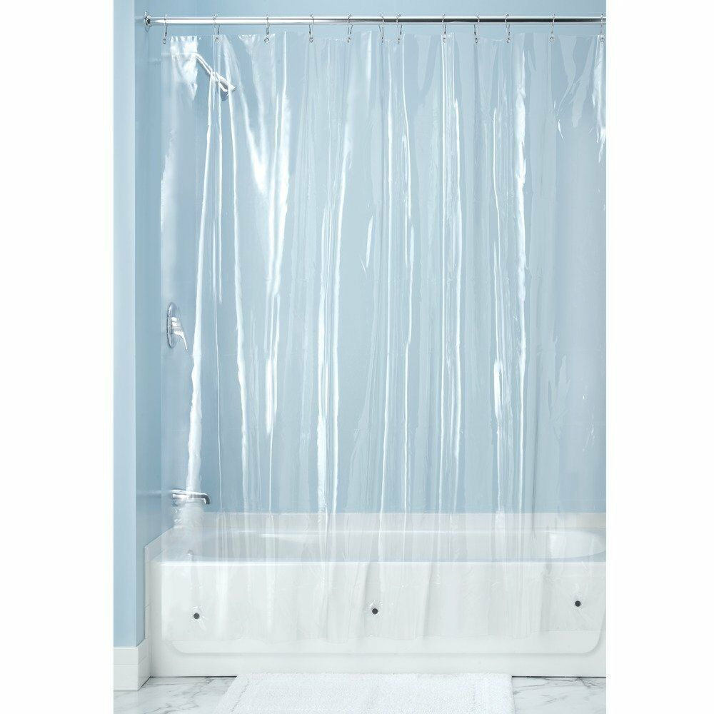 Shower Curtain Liner Clear Vinyl 72 X 96 Bathroom Bathtub Tub Magnets Extra Long Ebay