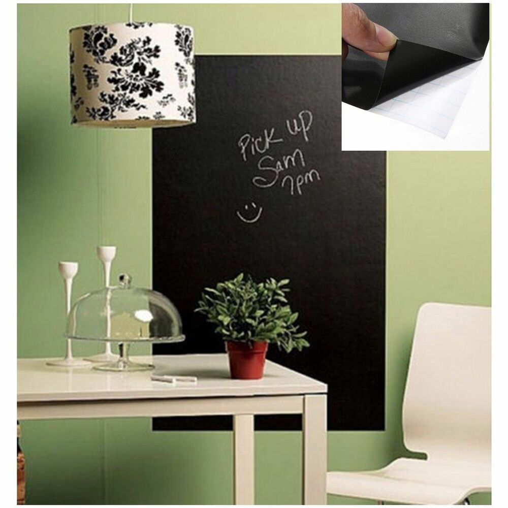 Removable Chalk Board Blackboard Vinyl Wall Sticker Decal ...