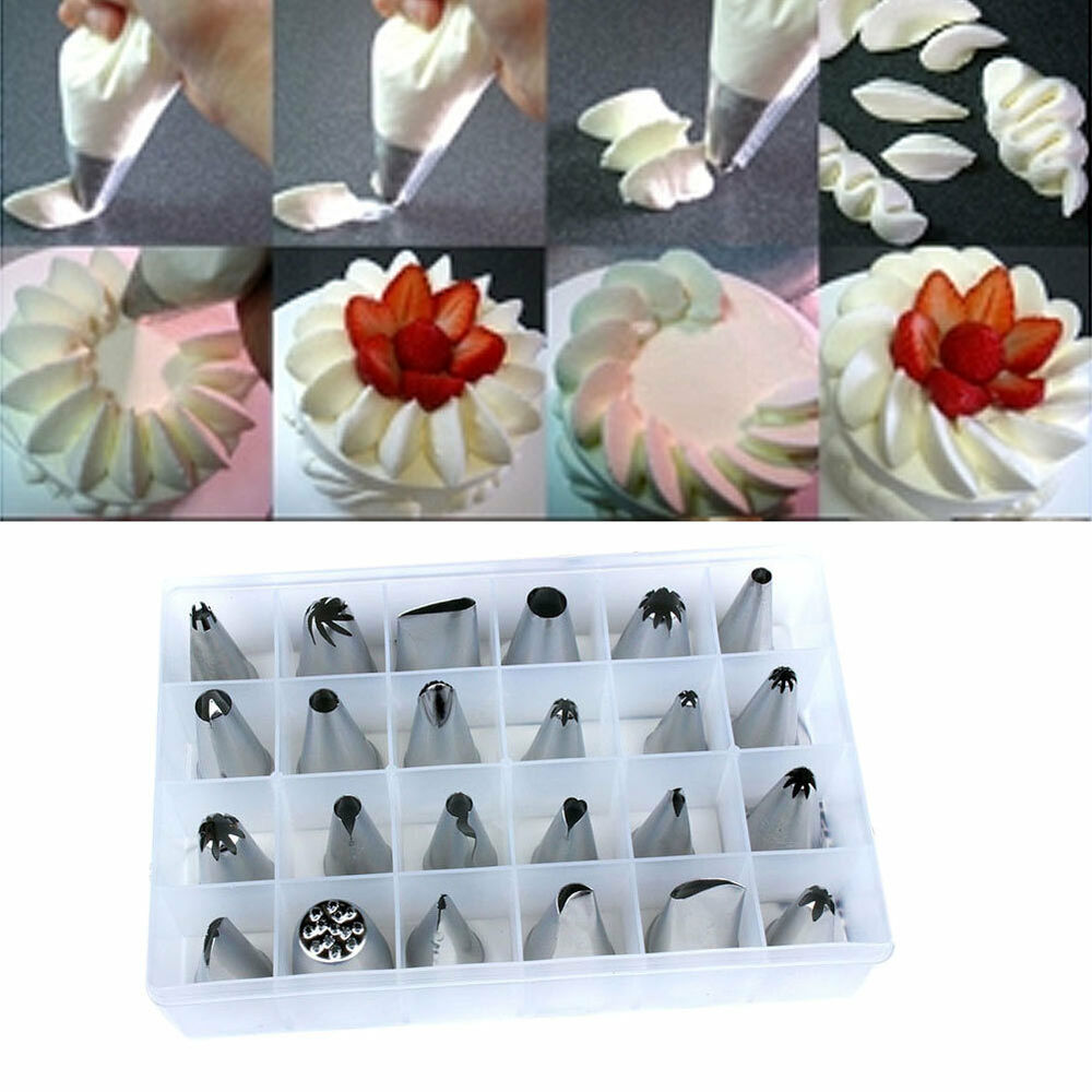 Cake Decorating Latest Techniques : new 24 PCS Icing Piping Nozzles Pastry Tips Cake ...