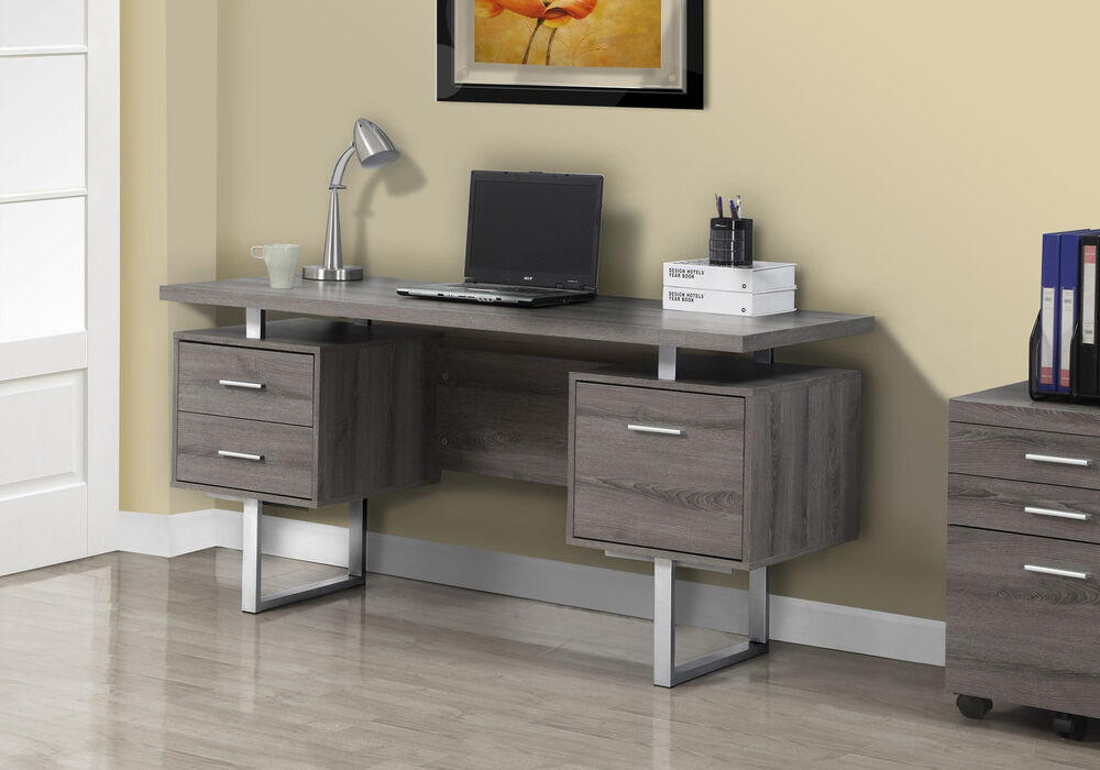 Monarch Dark Taupe Reclaimed Look Silver Metal 60 Quot L