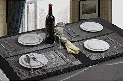 sicohome placemats pvc dining room placemats for table heat insulation