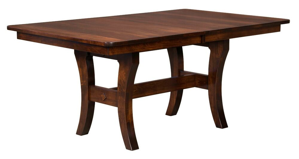 Amish Madison Trestle Dining Kitchen Table Solid Wood Farmhouse