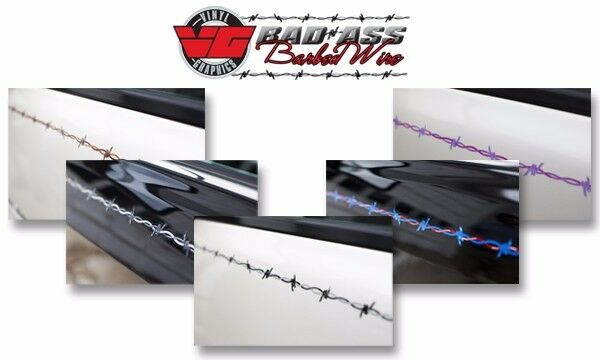 Bad Ass Barbed Wire By Vinyl Graphics Automotive