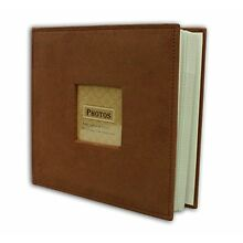Suede Cover Rusty Bronze Photo Album, Holds 200 4