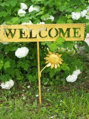 Welcome Tin Sign For Your Home Or Garden Decor Metal
