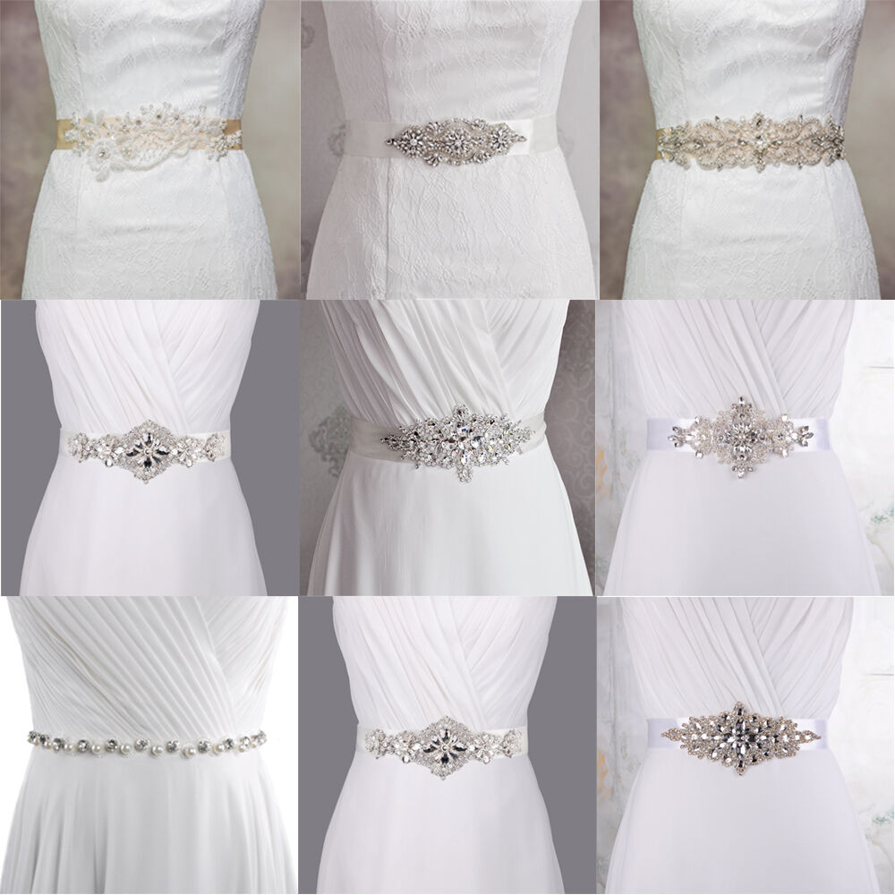 white ivory bridal sash belt wedding dress accessory