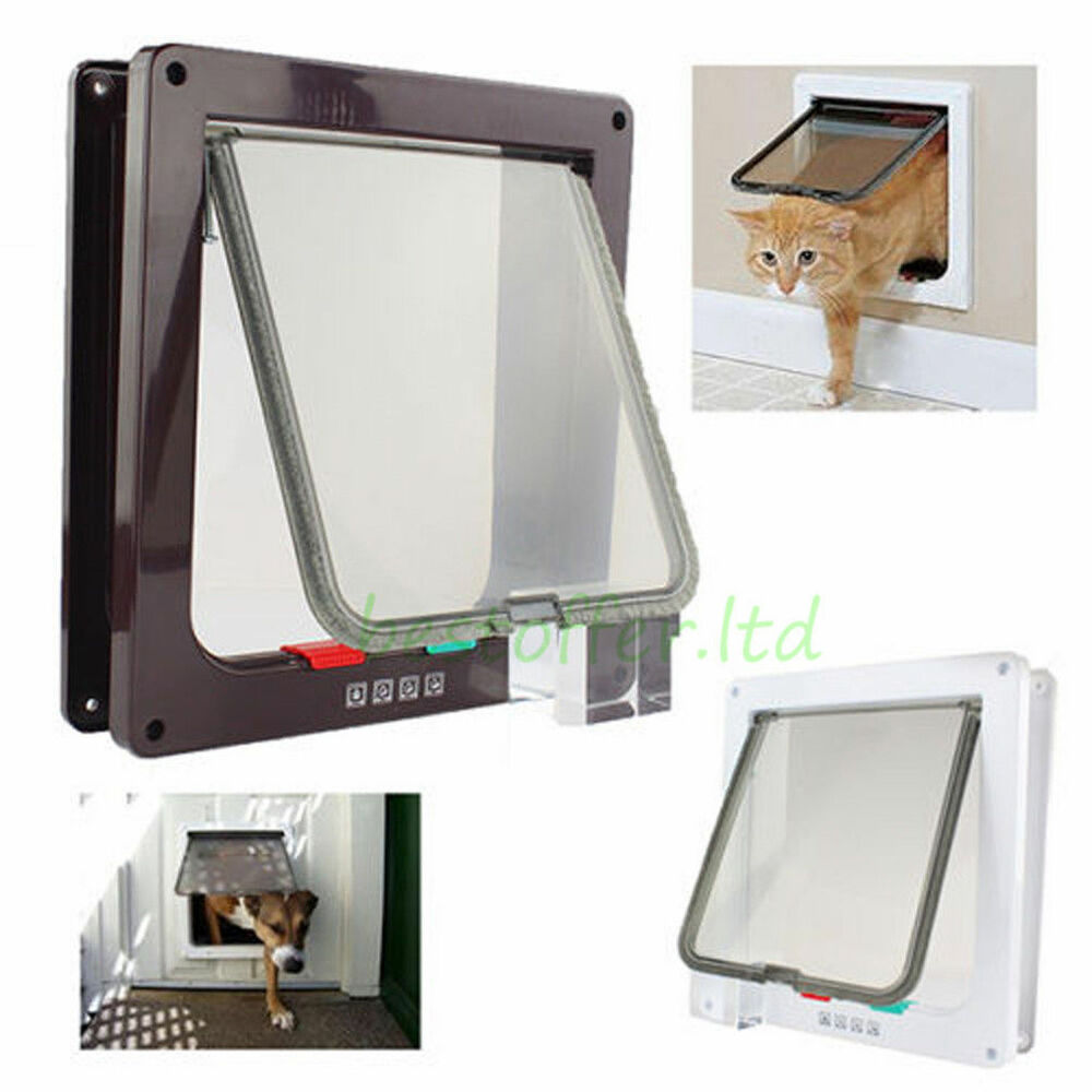 Pet door large 9 by 10 inch safe flap with telescoping frame dogs cats new ebay - Safe pet dog doors ...