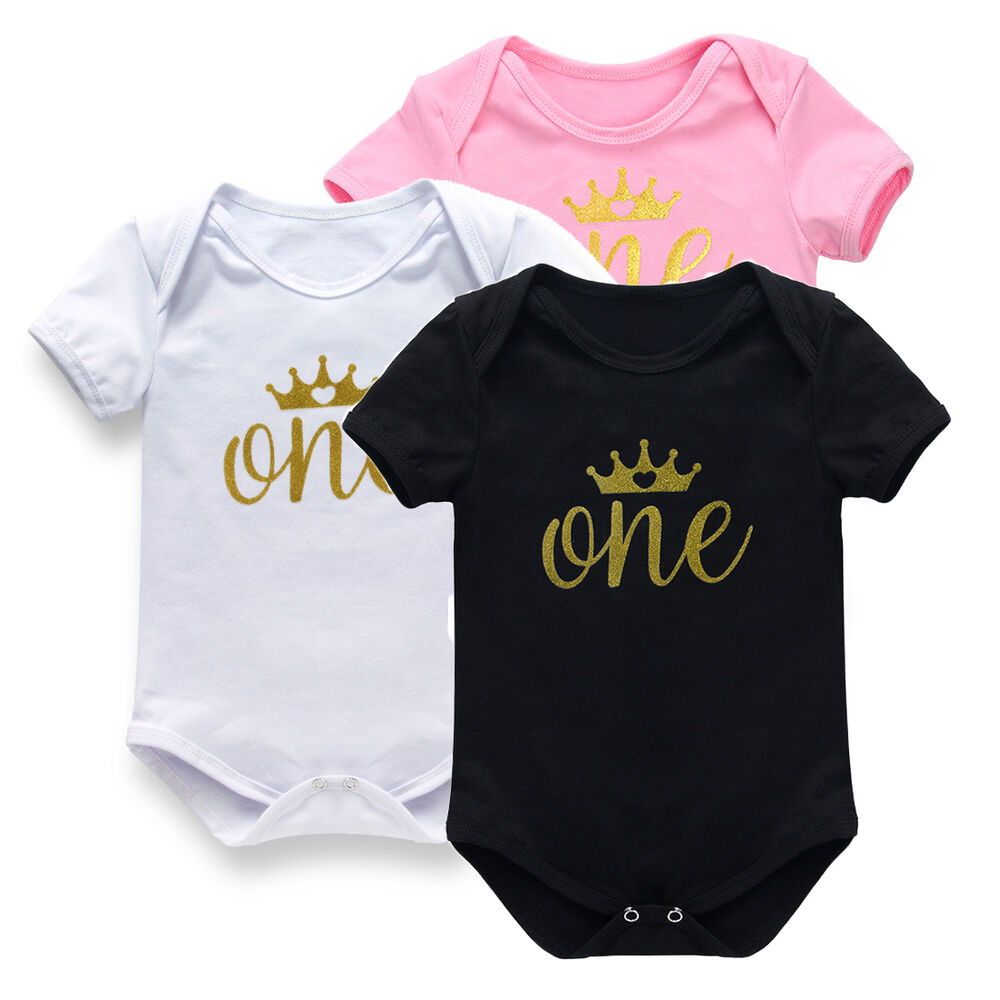Baby One Pieces Bodysuit Romper Jumpsuit One Birthday