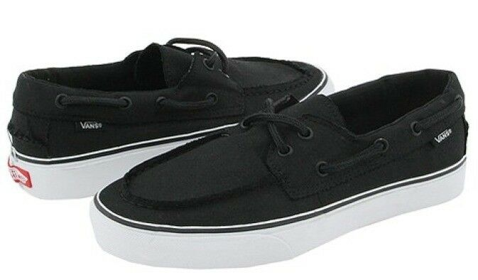 Black And White Boat Shoes Vans