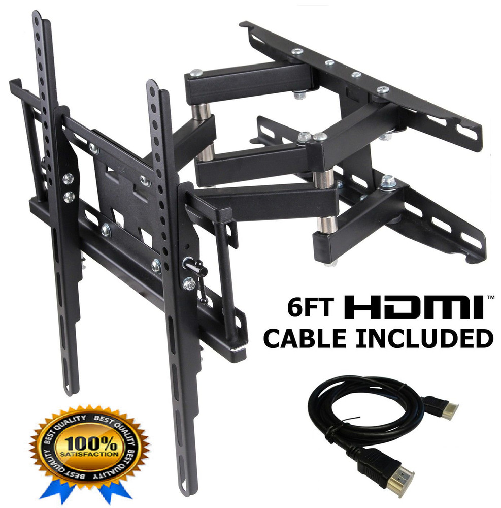 full motion tv wall mount lcd led articulating bracket 32 55 inch flat screen ebay. Black Bedroom Furniture Sets. Home Design Ideas