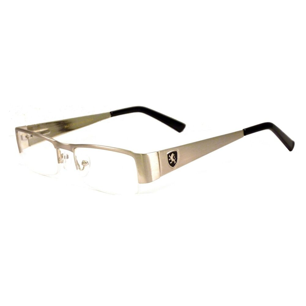 KHAN Half Rim Rx Optical Designer Men Women Metal Frame ...