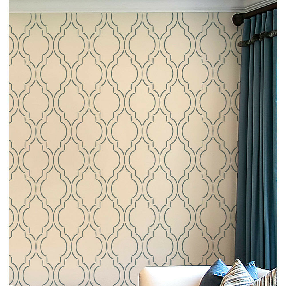 Sophia Trellis Allover Stencil Large Reusable Wall