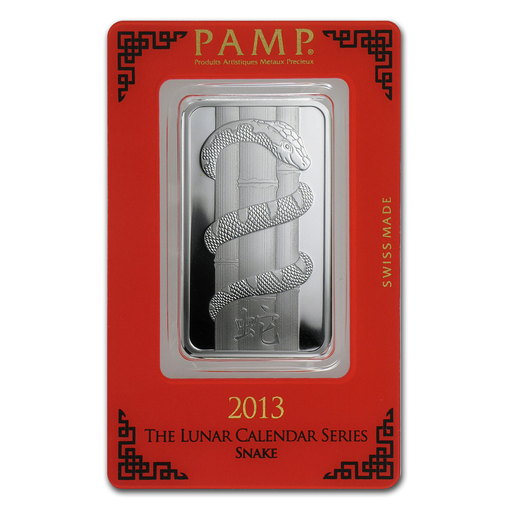 1 Oz Silver Bar Pamp Suisse Year Of The Snake Sku
