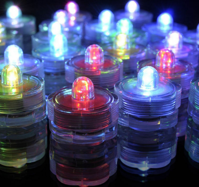 submersible white led tea light candles battery operated wedding vase. Black Bedroom Furniture Sets. Home Design Ideas