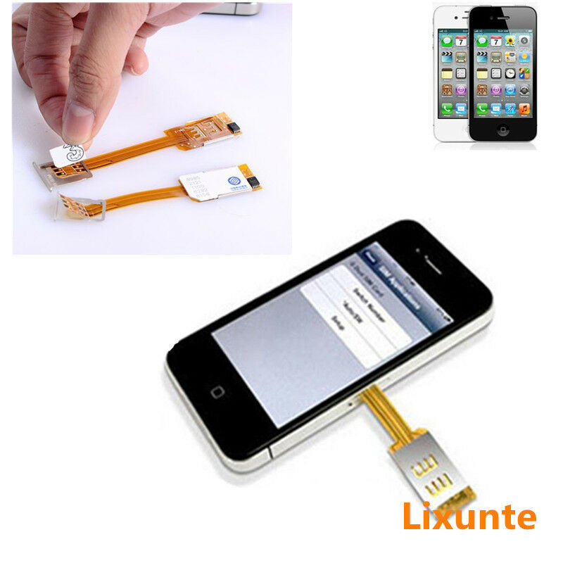 where is the sim card on iphone 5 cell phone thin dual sim card chip adapter 21248
