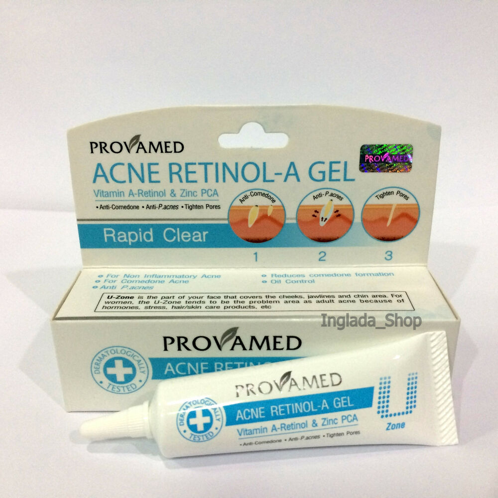 provamed acne retinol a gel for comedone anti bacterial tight pores rapid clear ebay. Black Bedroom Furniture Sets. Home Design Ideas