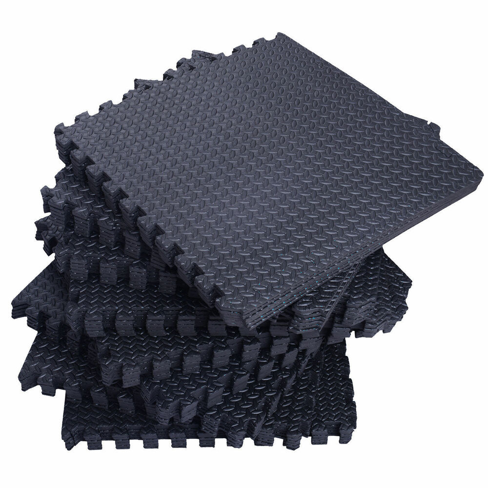 72Sq Ft Foam Interlocking Exercise Protective Tile