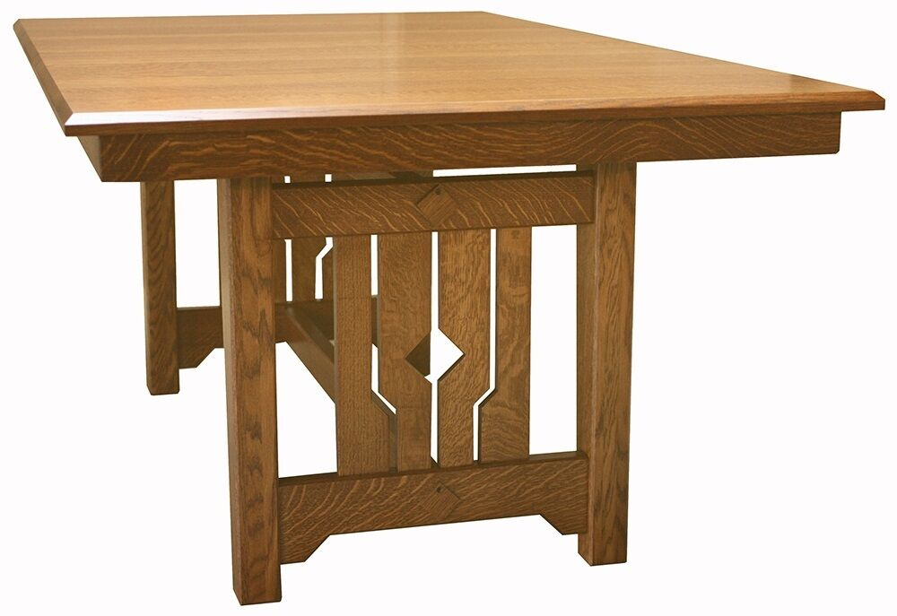 mission craftsman rectangle dining table solid wood 42 x 72