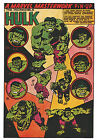 INCREDIBLE HULK MARVEL MASTERWORKS PIN-UP POSTER Vintage art Marvel UK British