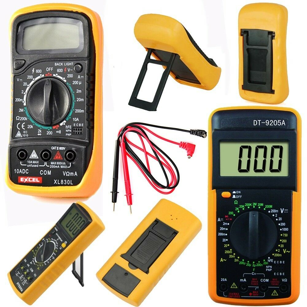 digital multimeter v a ohmmeter kapazit t messger t incl. Black Bedroom Furniture Sets. Home Design Ideas