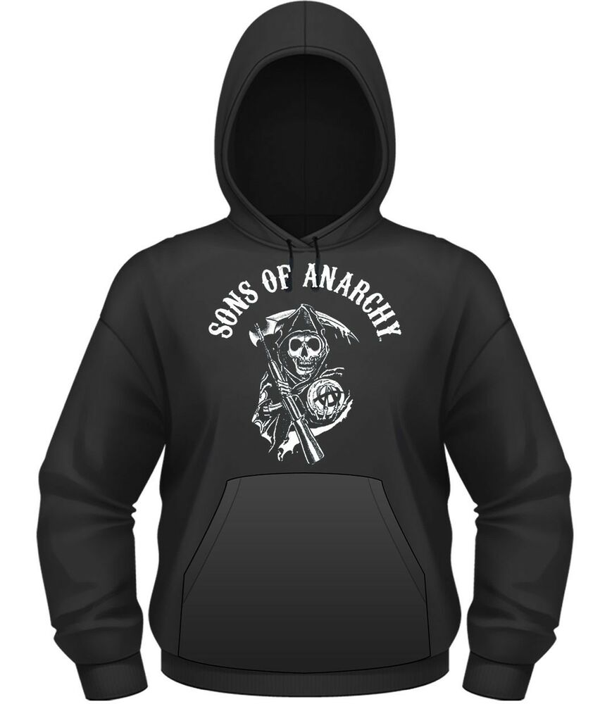 sons of anarchy 39 classic 39 pull over hoodie new. Black Bedroom Furniture Sets. Home Design Ideas