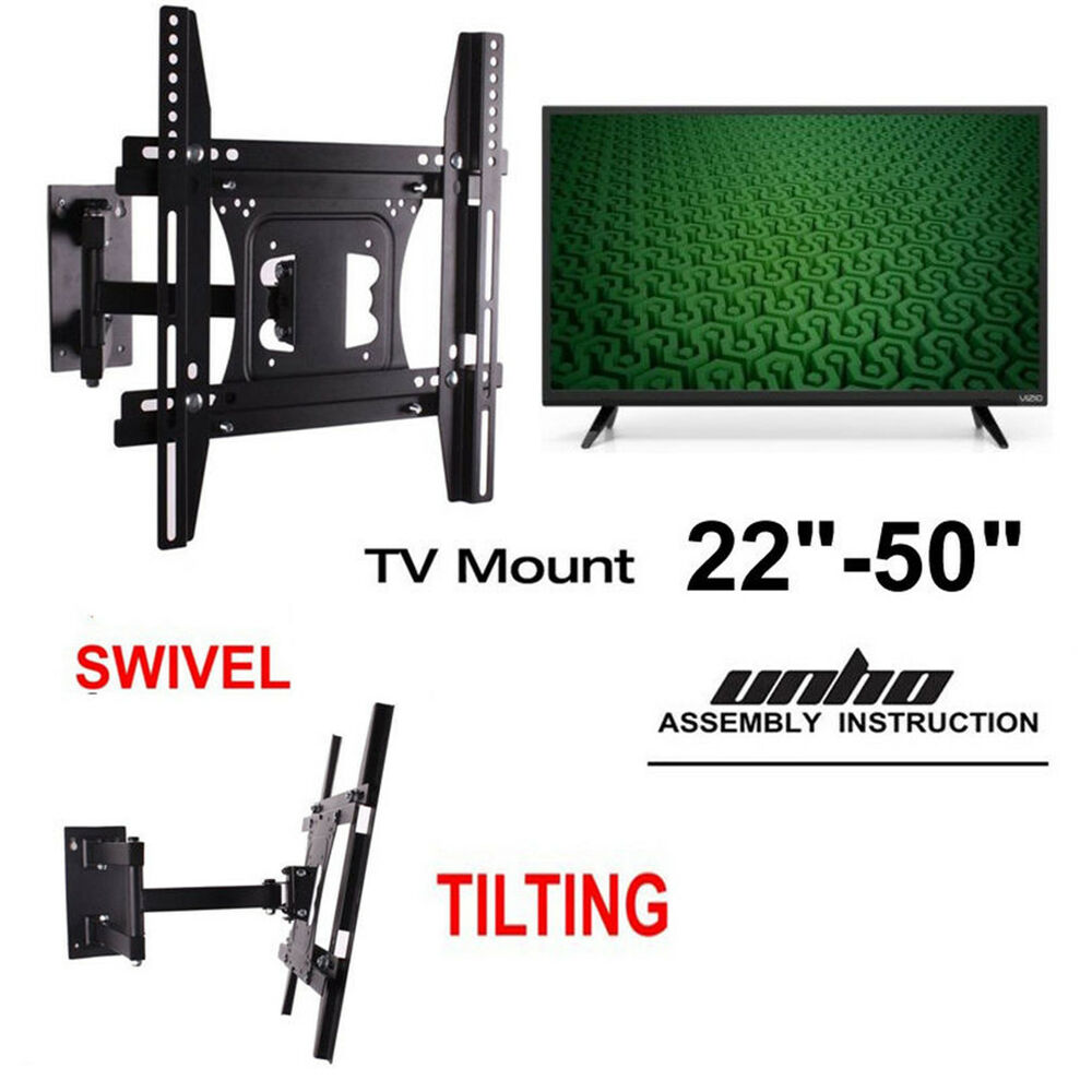 Full Motion Tv Wall Mount Tilt Swivel 27 42 45 46 47 48