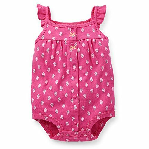 Carter s Baby Girl Romper Pink with Paisley Print