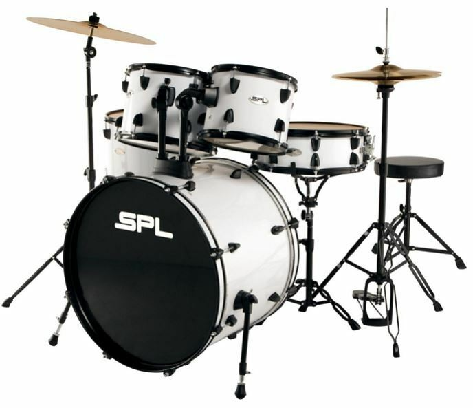 sound percussion labs unity 5 piece drum set with hardware cymbals and throne ebay. Black Bedroom Furniture Sets. Home Design Ideas