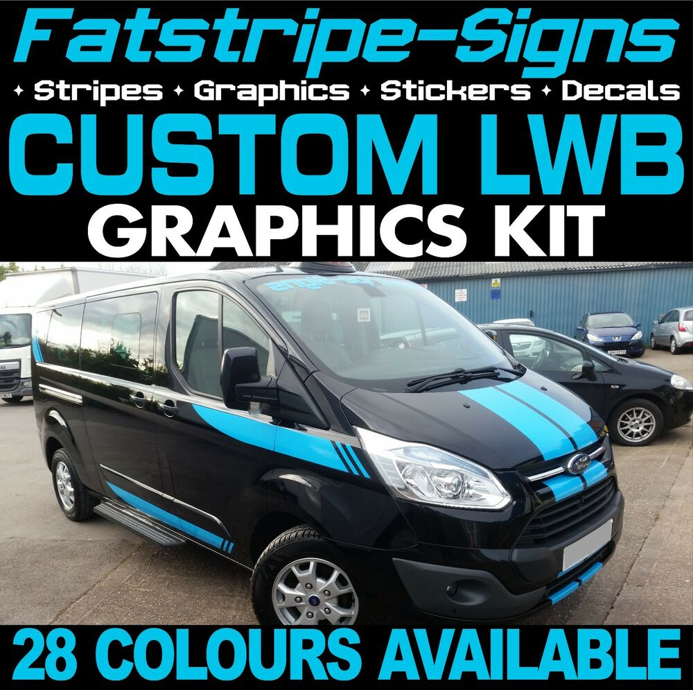 Details about ford transit custom lwb graphics stickers stripes decals st m sport day van 1