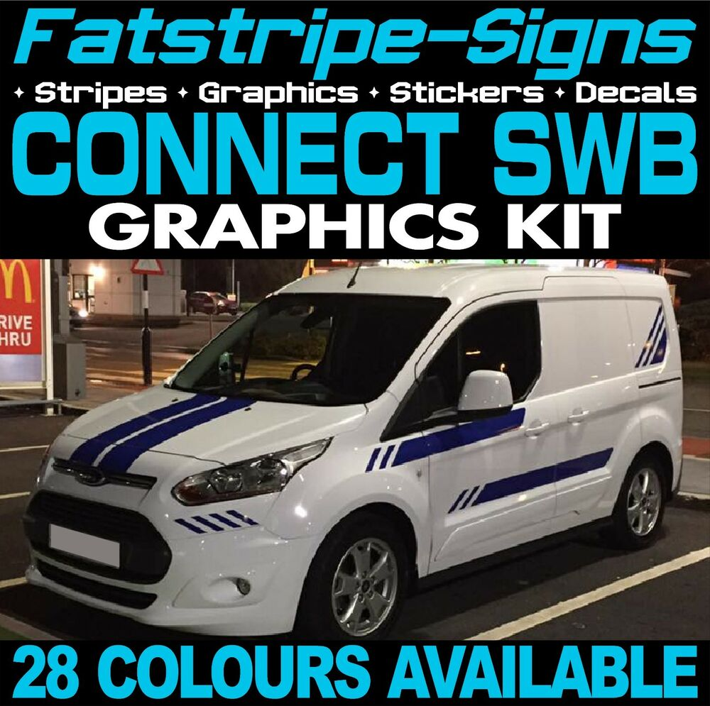 FORD TRANSIT CONNECT SWB GRAPHICS STICKERS STRIPES DECALS
