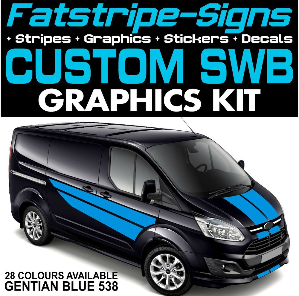 Details about ford transit custom swb graphics stickers stripes decals st m sport day van 2 2