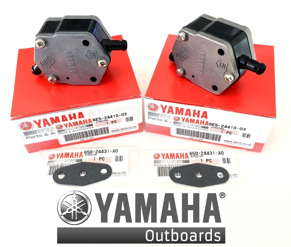 Yamaha oem outboard fuel pump assy 2pack 115 150 175 200 for Yamaha 150 2 stroke fuel consumption