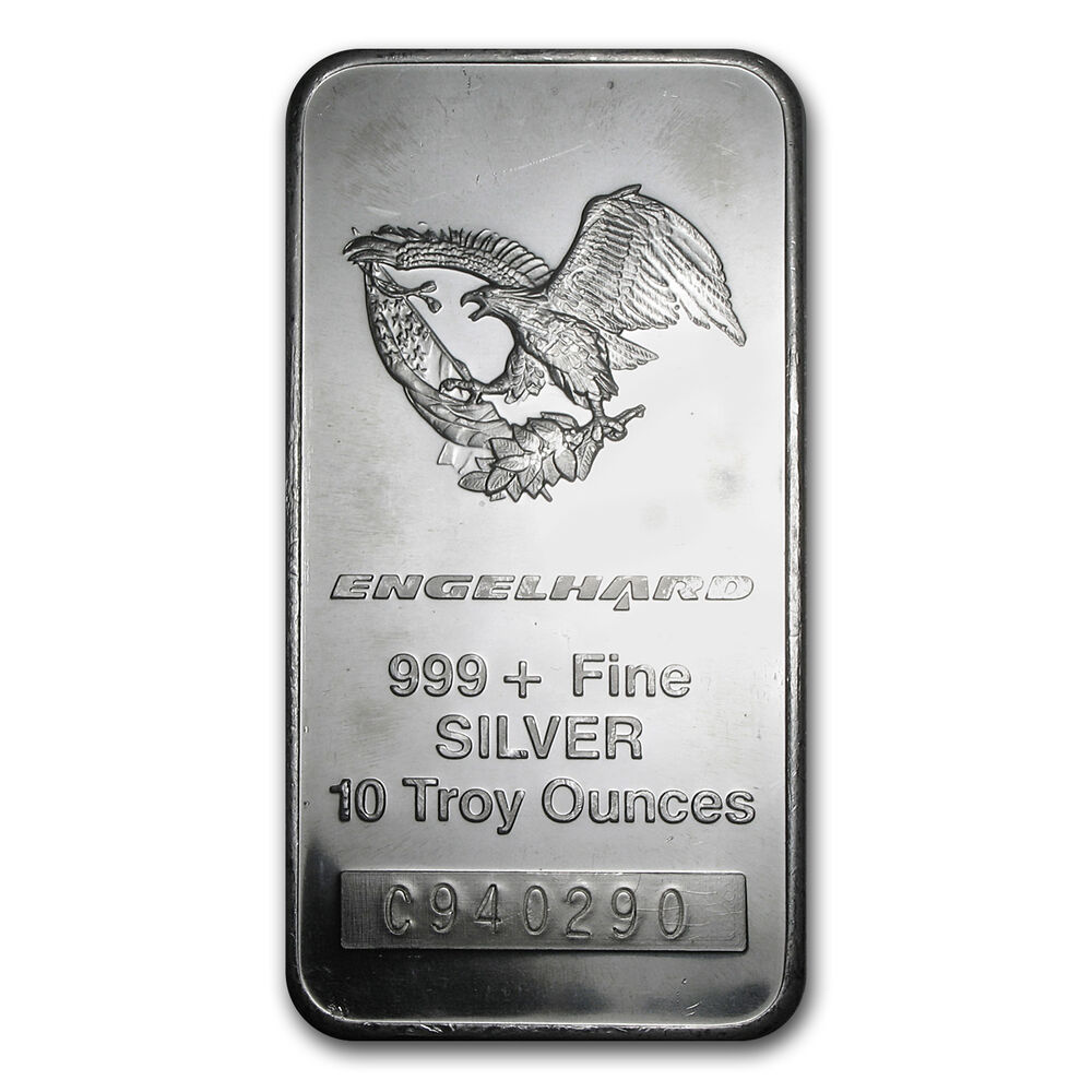 10 Oz Engelhard Silver Bar Eagle Design Sku 62743 Ebay