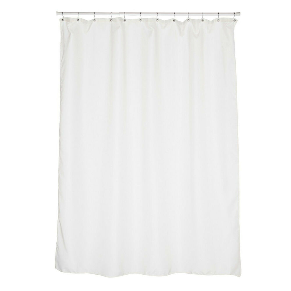 "Carnation Home 84"" Extra Long 100% Fabric Shower Curtain"