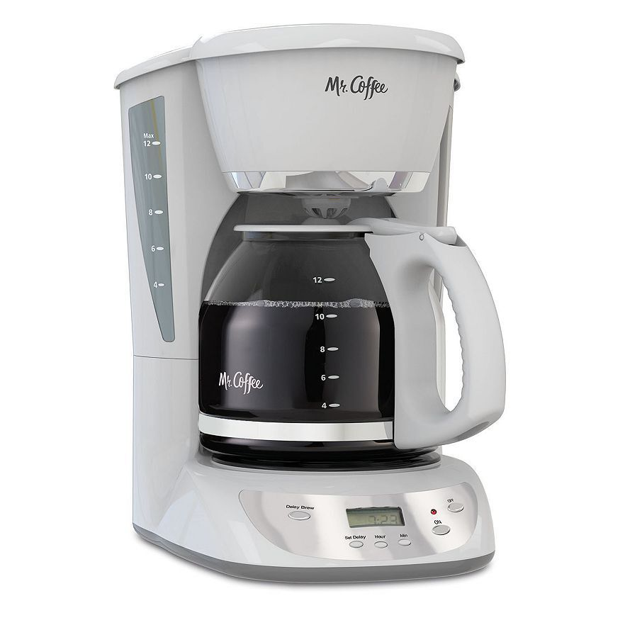 Kohl S One Cup Coffee Maker : Mr. Coffee VBX20-NP 12-Cup Programmable Coffeemaker, White 72179228875 eBay