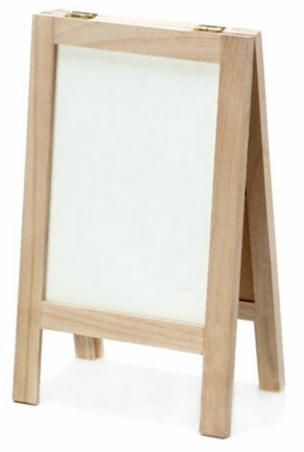 Chalkboard And Whiteboard Easel Wood Easel With Dry