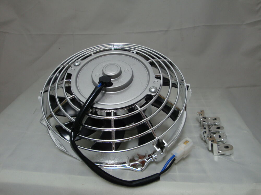 7 Inch 12v Chrome Electric Cooling Fan Performance Thermo