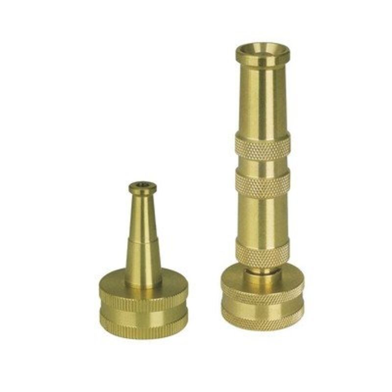 Solid brass heavy duty adjustable twist hose nozzle