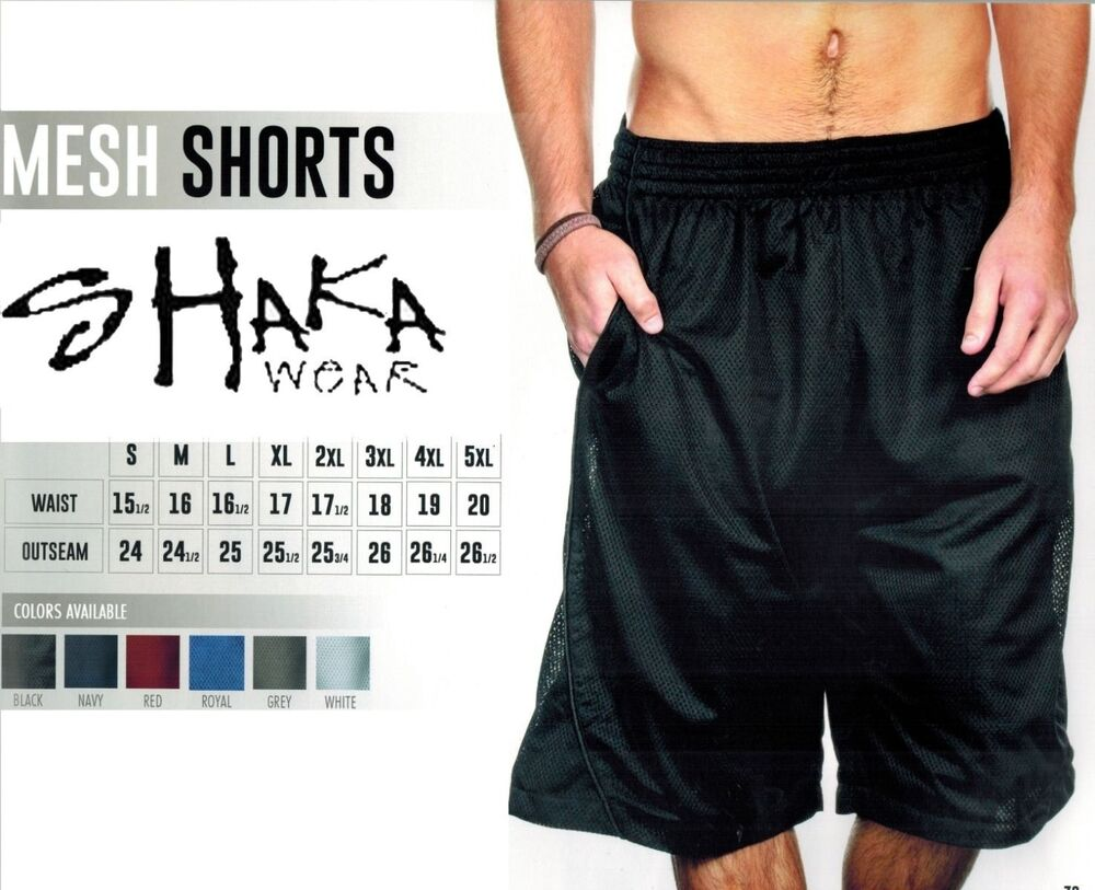 Mens basketball shorts on sale free shipping - Shaka Wear Mens Mesh Basketball Shorts Free Shipping Any Color Size Sm 5x Ebay