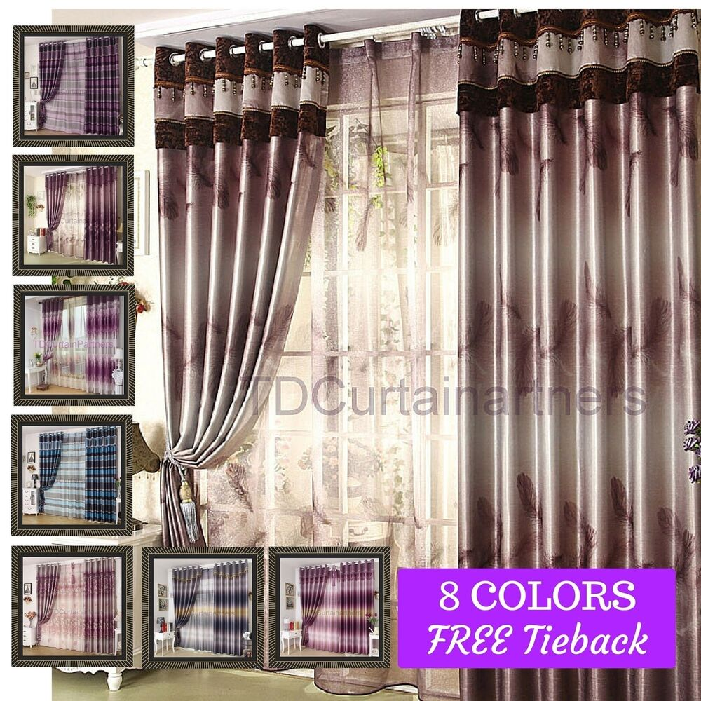 Blackout Blue Brown Purple Red Sheer Drape Curtain Fabric