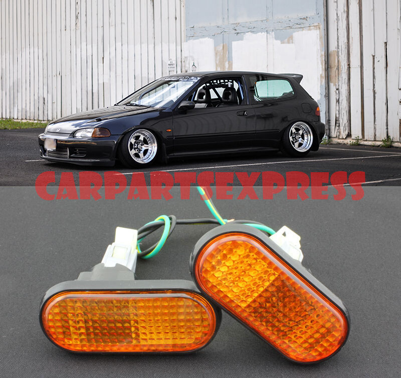 for 92 95 honda civic amber side marker lights eg6 jdm ebay. Black Bedroom Furniture Sets. Home Design Ideas