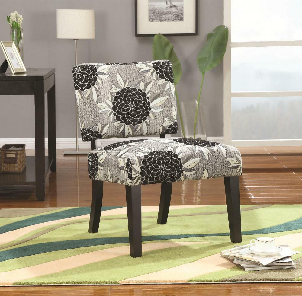 Coaster Accent Chair Black White Floral Pattern 902050 Ebay